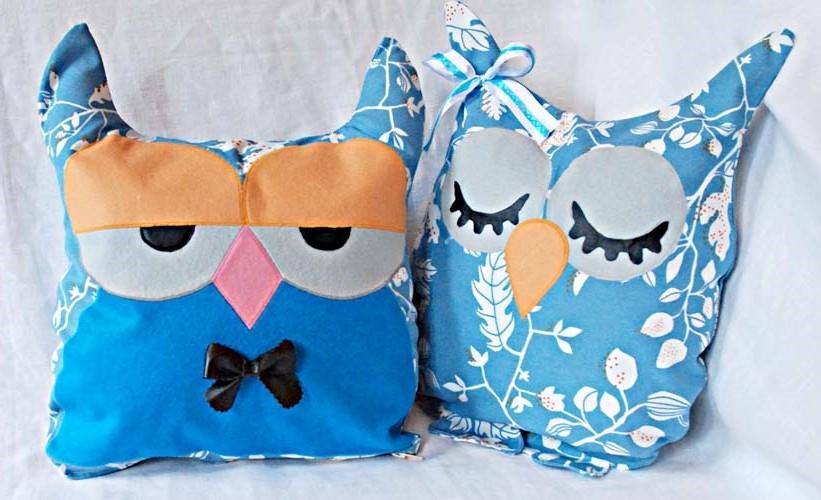 Как сделать подушки совы