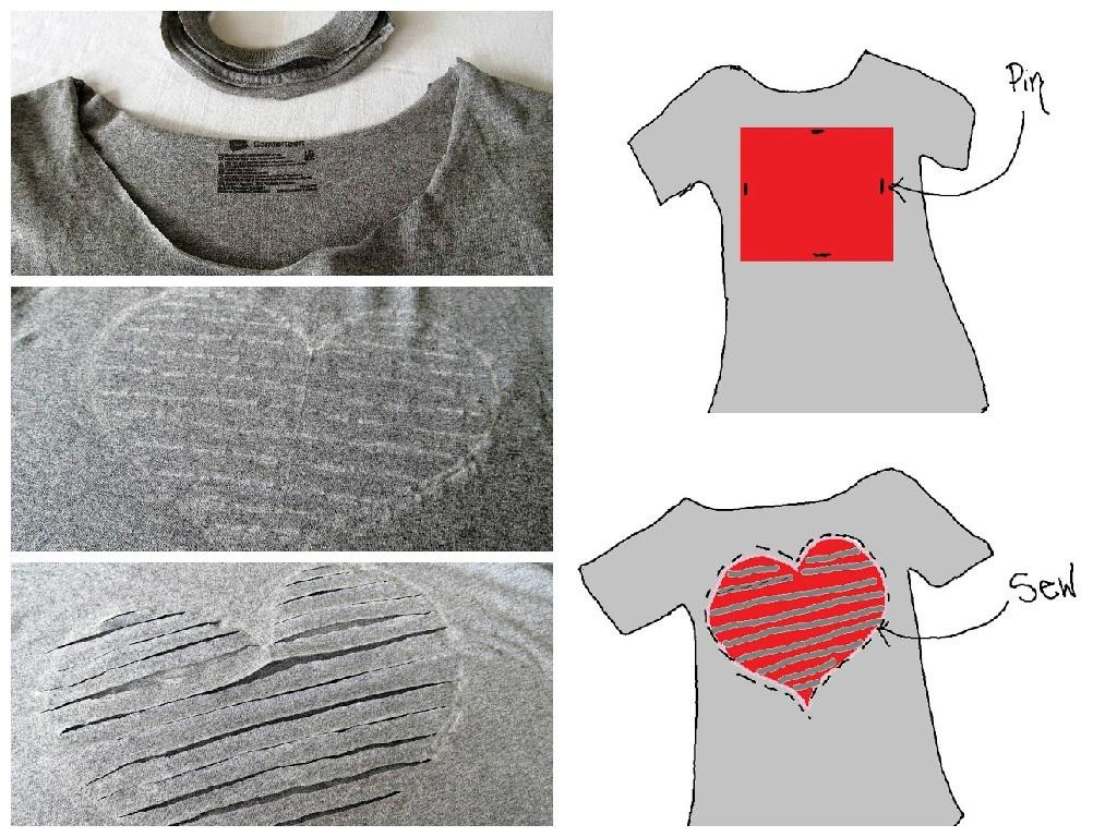 Оригинальная футболка сделанная своими руками