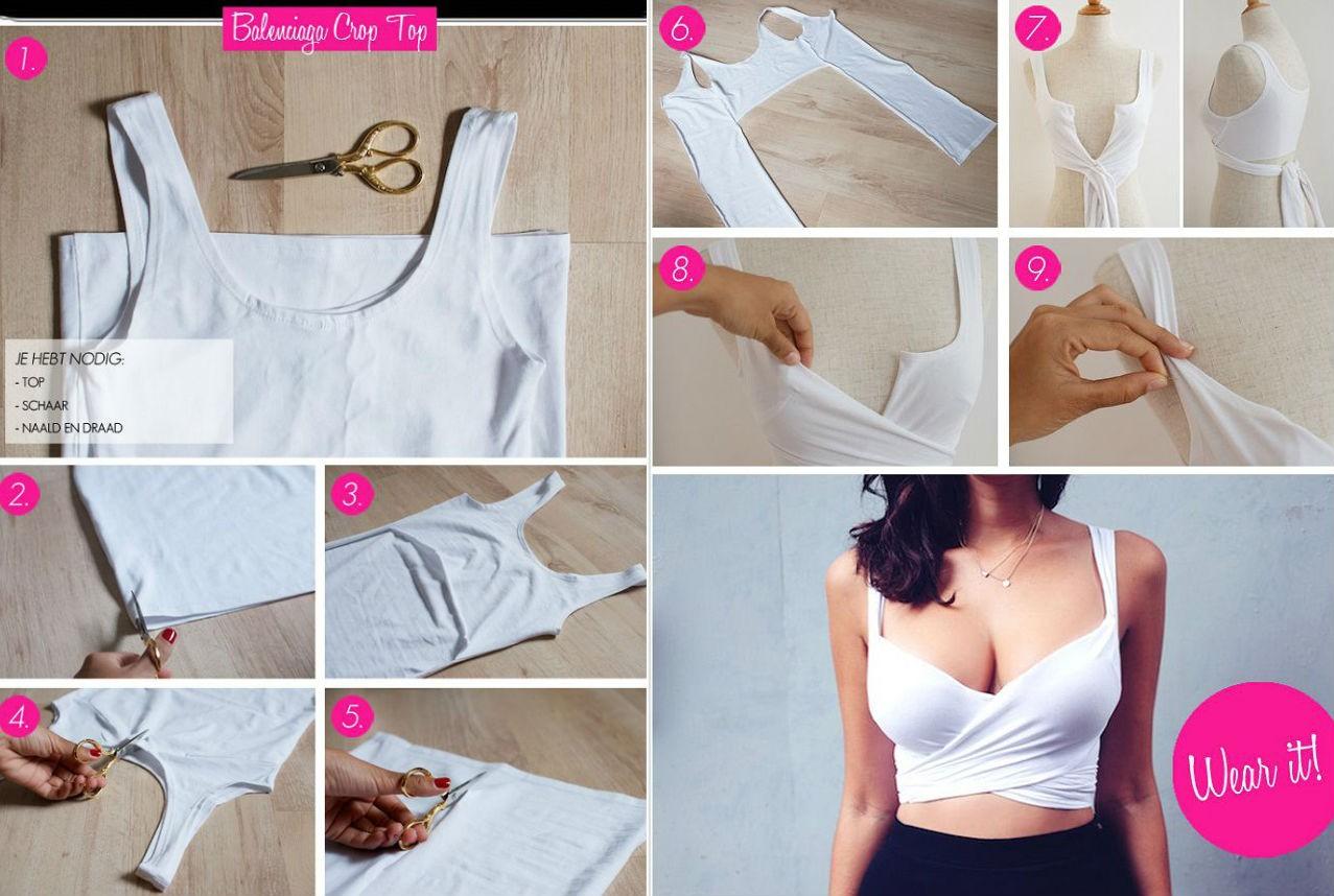 Как удлинить футболку оригинально своими руками