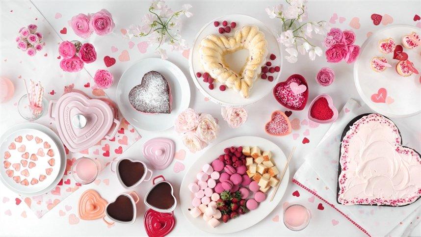 Десерты в форме сердца