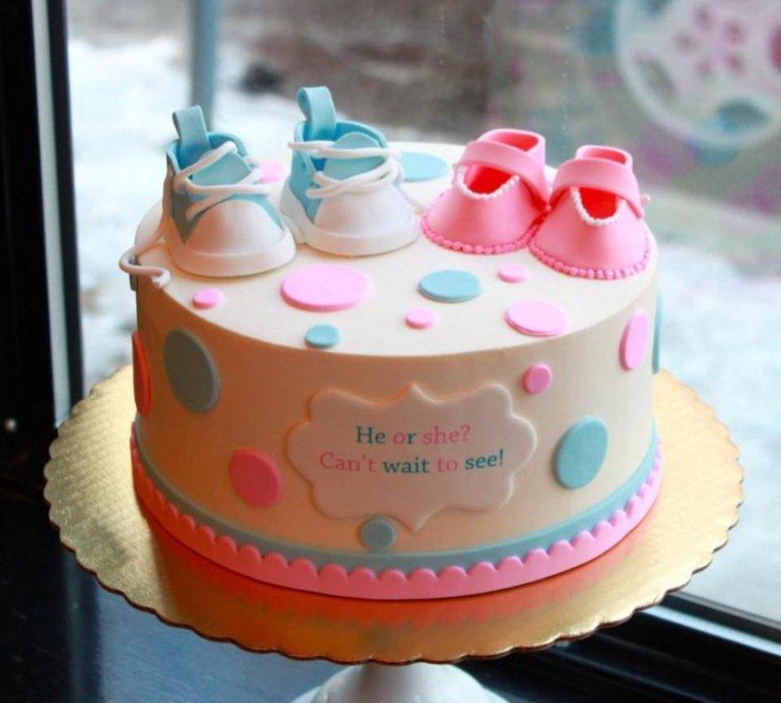 Торт с полом ребенка своими руками 29