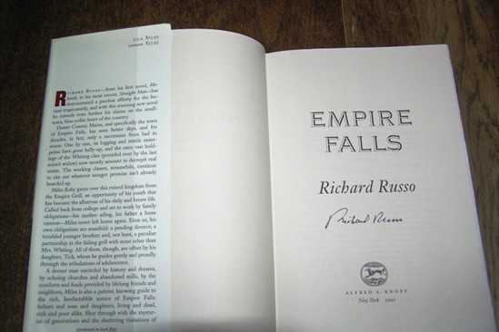 empire falls by richard russo essay The new canon is devoted to focusing on great works of fiction published since 1985 this review focuses on empire falls by richard russo.
