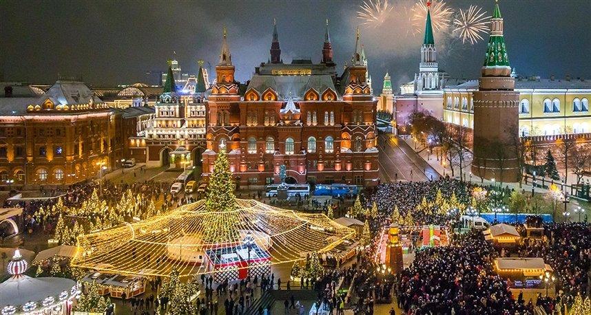 Прогулка по новогодней Москве