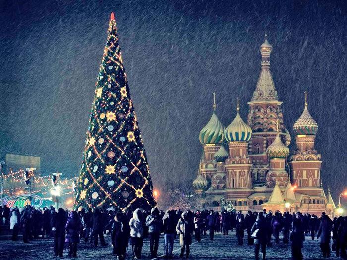 красная площадь новый год