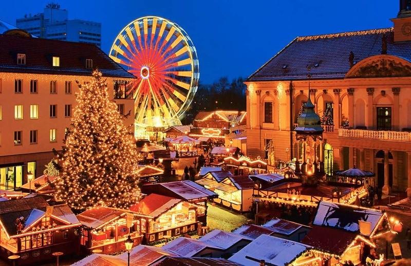 Традиционная рождественская ярмарка в Европе