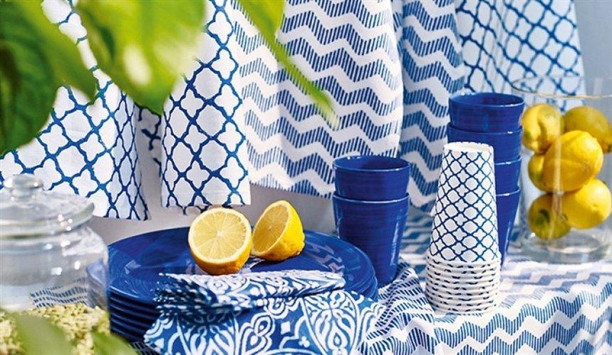синяя посуда