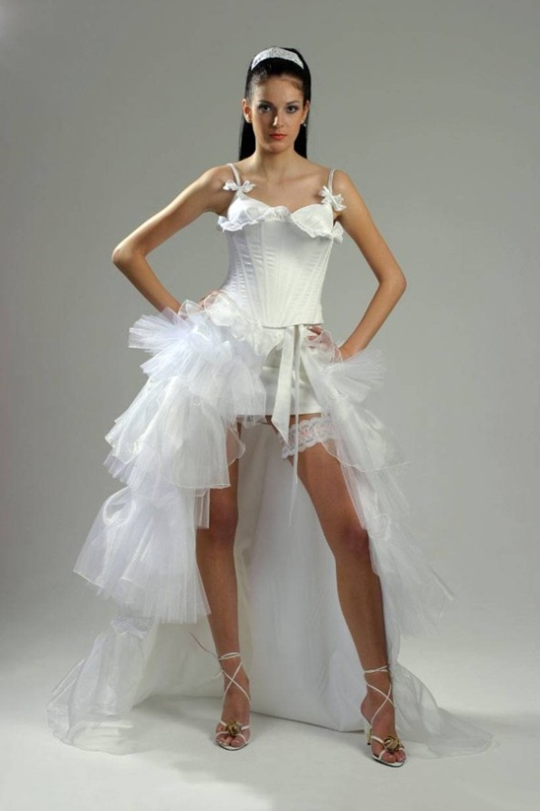 Sexy Bridal Costume White Lace Cut Out Hoisery With T Back Halloween Wedding Costume Halloween