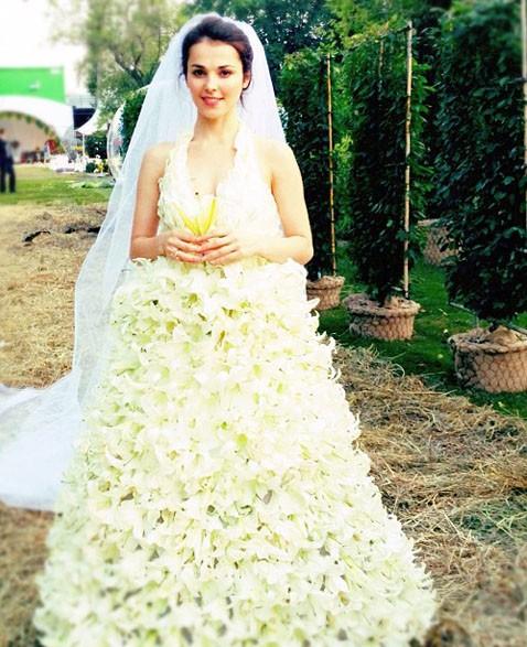 свадебные платья звезд россии фото
