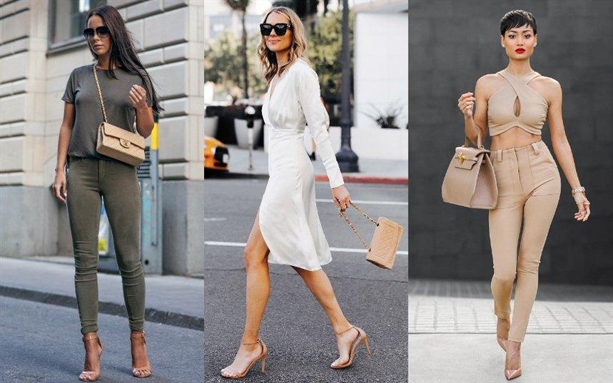 С чем носить нюдовые туфли