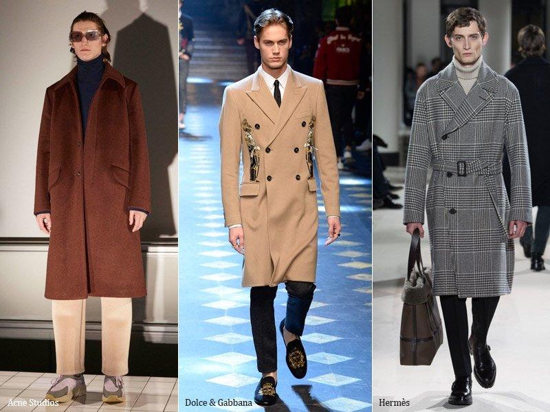 Прямое пальто для мужчин тренд осени 2017