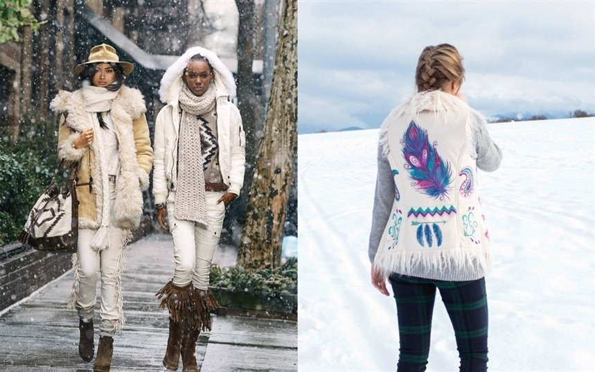 Идеи зимних образов в стиле бохо