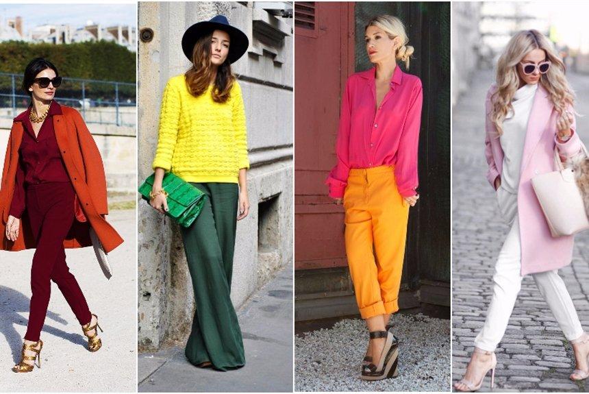 Самые модные сочетания цветов 2018