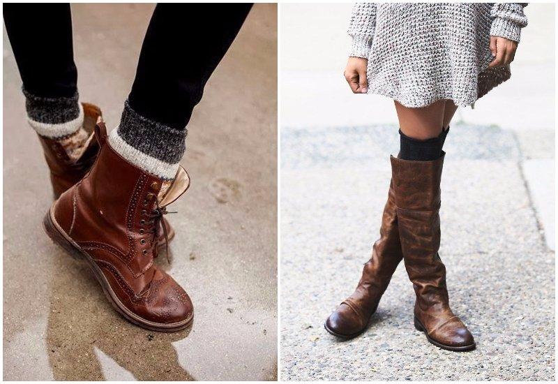 Носки с ботинками антитренд осени 2017
