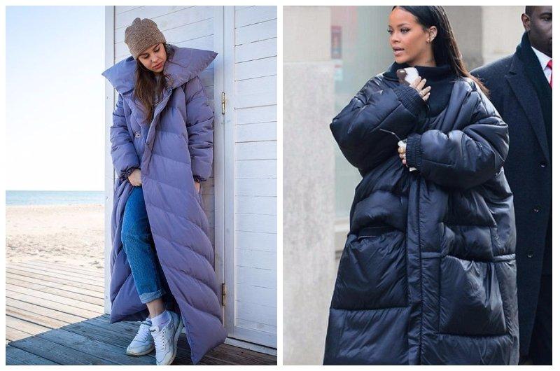 Пуховик одеяло тренд зимы 2018