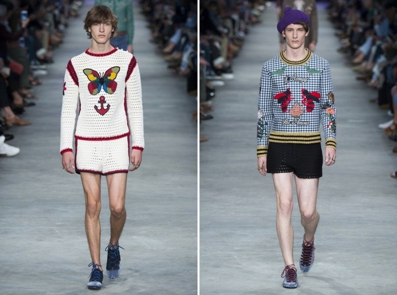 Смешной тренд вязанные шорты