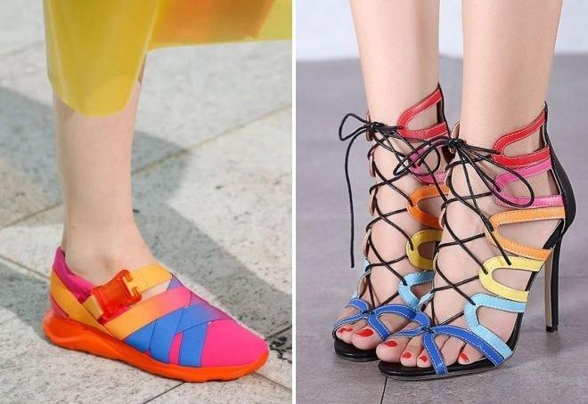 Яркая обувь тренд лета 2017