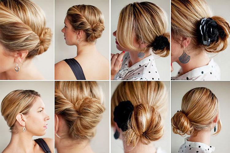 Как сделать на коротких волосах прическу видео - Mdvedv.ru