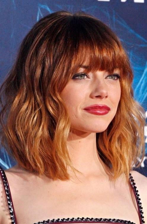 омбре на рыжие волосы фото короткие