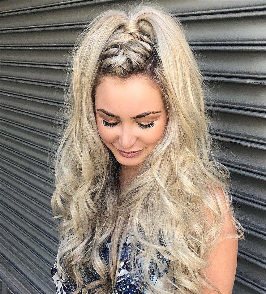 Полусобранные волосы