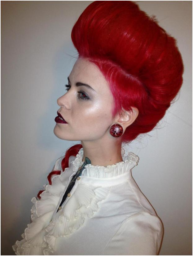 Рыжие волосы выбритый висок