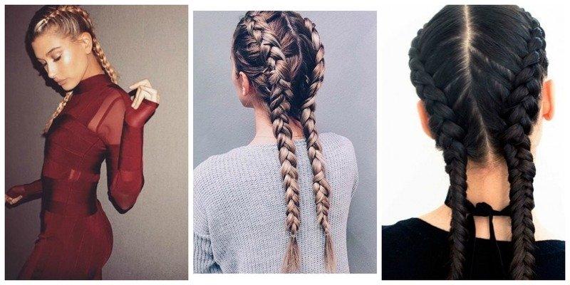 Две косы тренд
