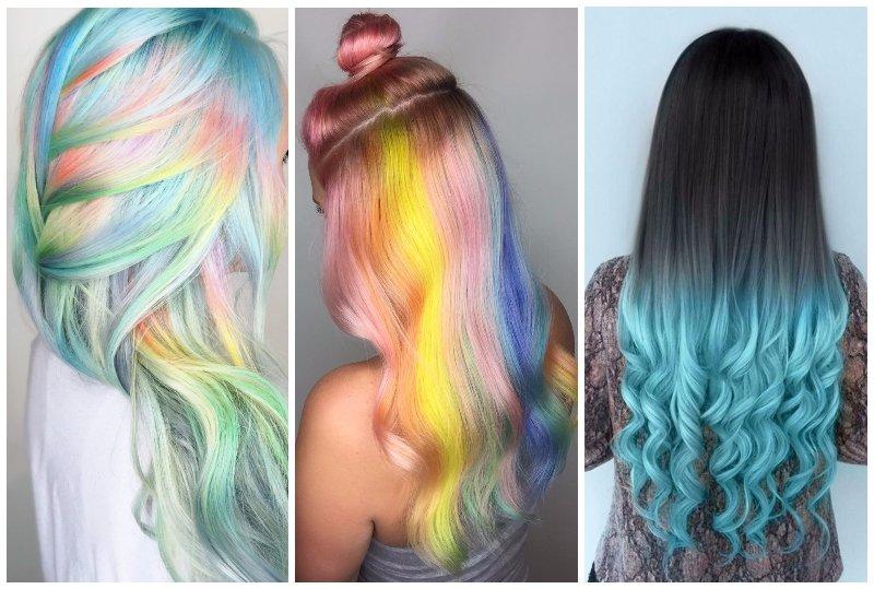 Цветные волосы тренд 2017