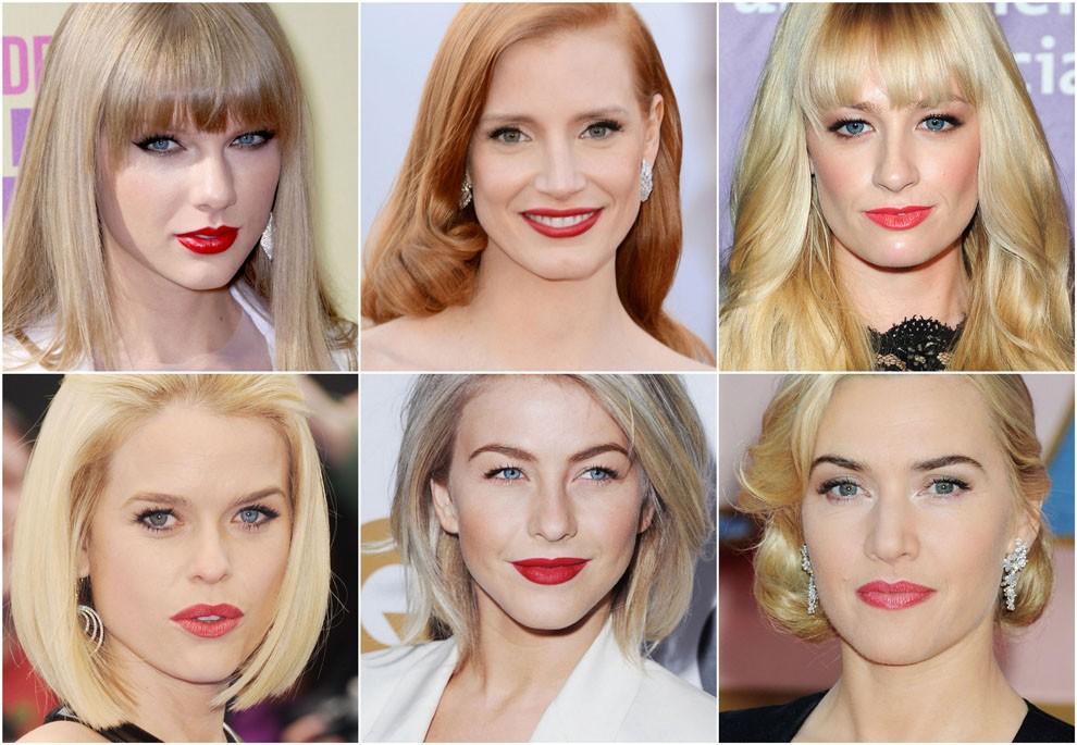 Какие оттенки помады подходят теплым блондинкам