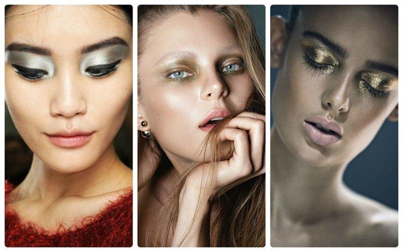 Металлик макияж тренд осени 2017