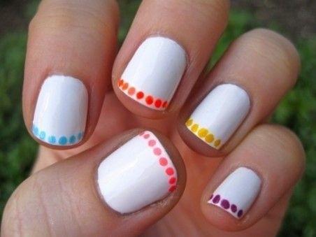 Ногти рисунки френч на короткие ногти