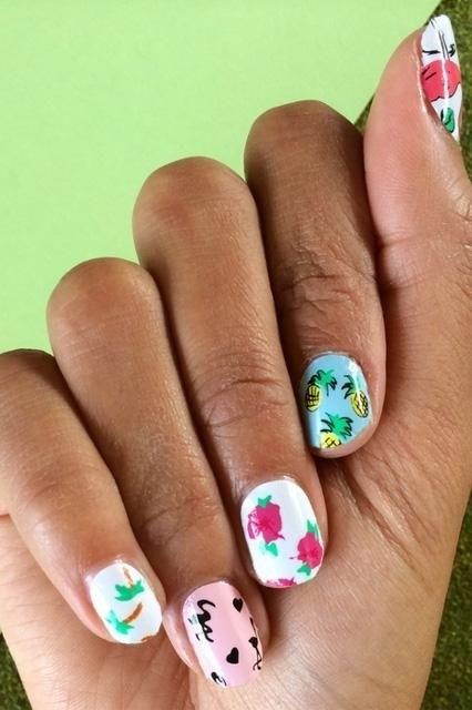 рисунки на ногтях летние фото
