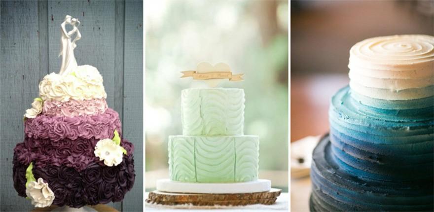 Торты омбре на свадьбу