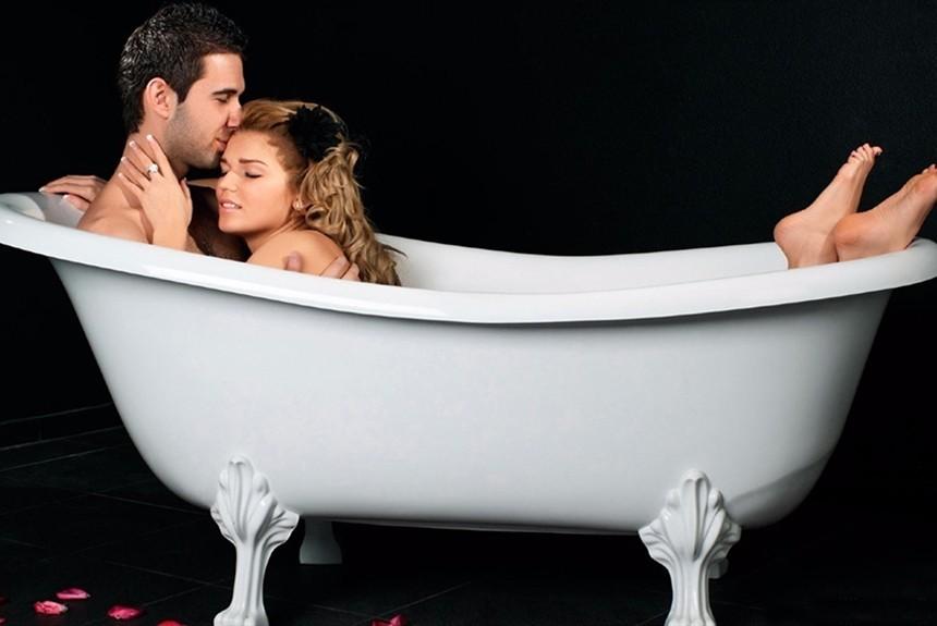 Секс в ване романтическое описания