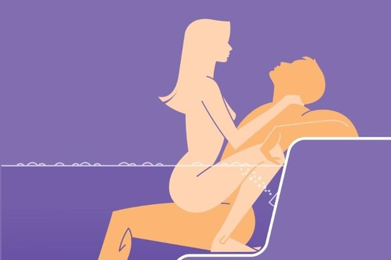 Секс в ванной удобные позы