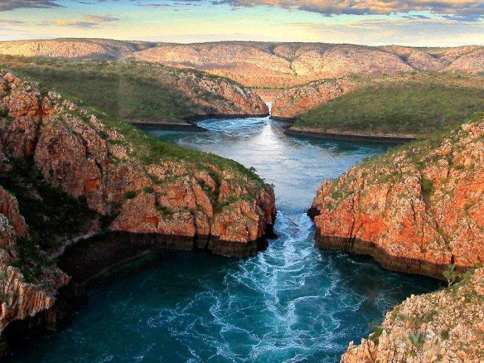 Горизонтальные водопады, Западная Австралия