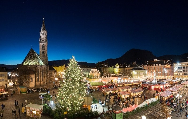 Рождественская ярмарка в Больцано в 2017 году