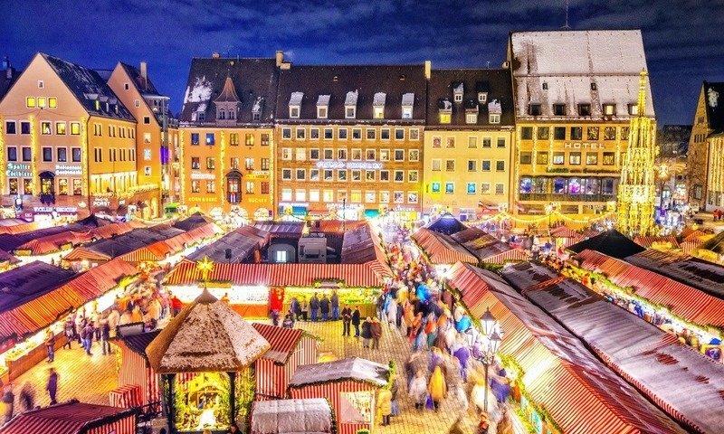 Рождественская ярмарка в Мюнхене 2017 год