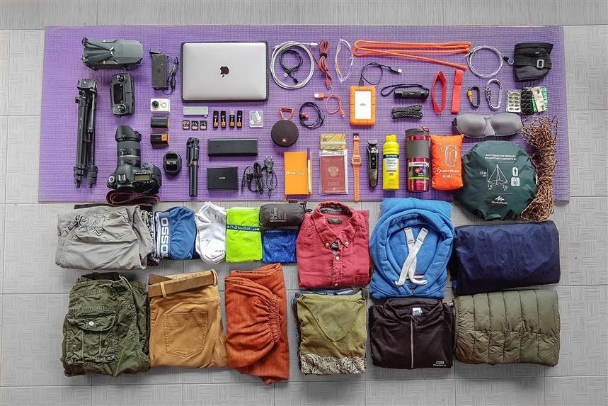 Вещи в рюкзаке