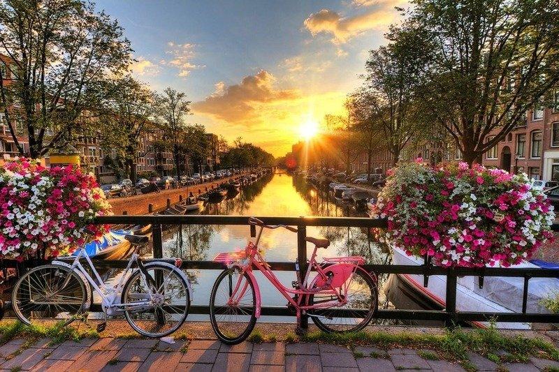 Прогулка на велосипедах Амстердам