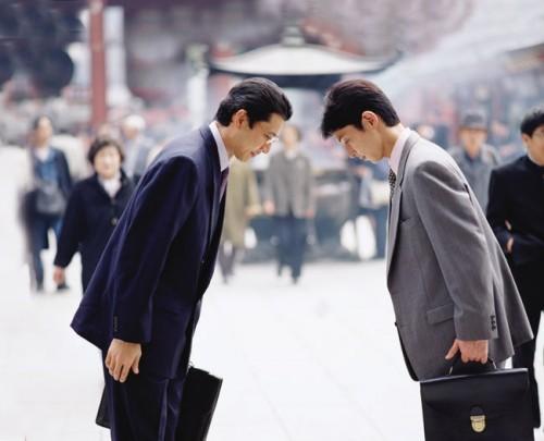 приветствие в Японии