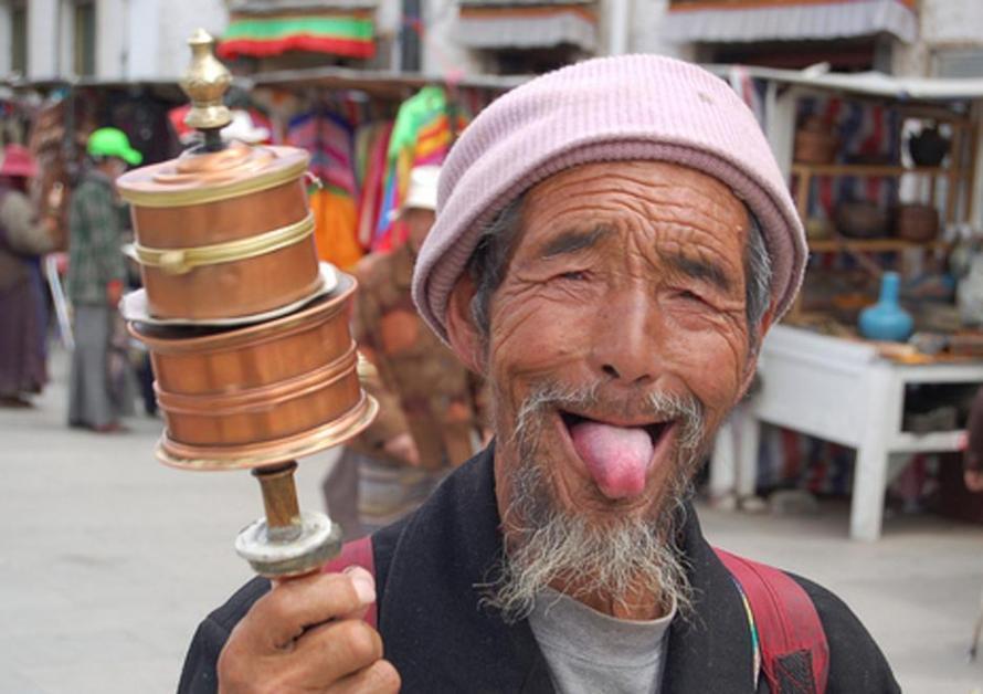 на Тибете