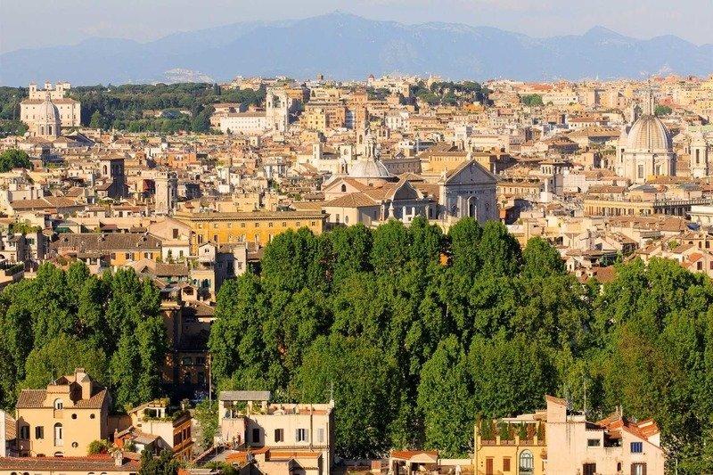 Вид с холма Яникул Рим