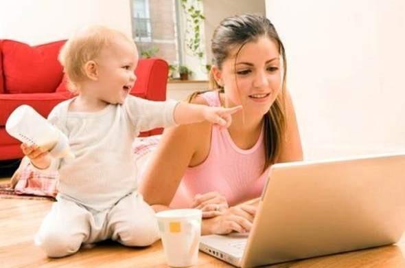 работа для девушки с маленьким ребенком