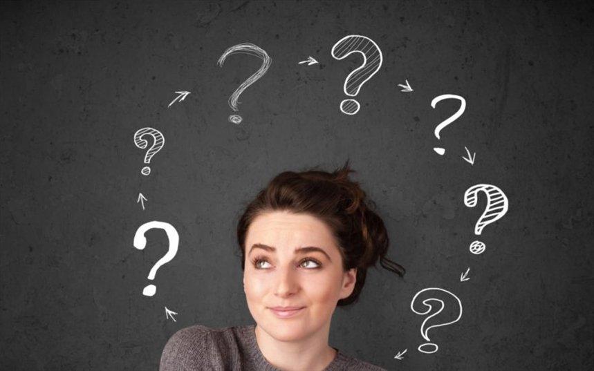 Девушка и знаки вопроса