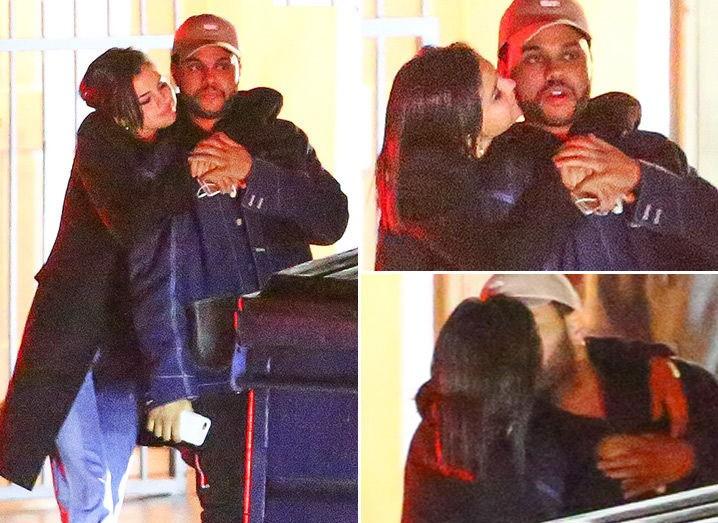 селена гомес и The Weeknd поцелуй
