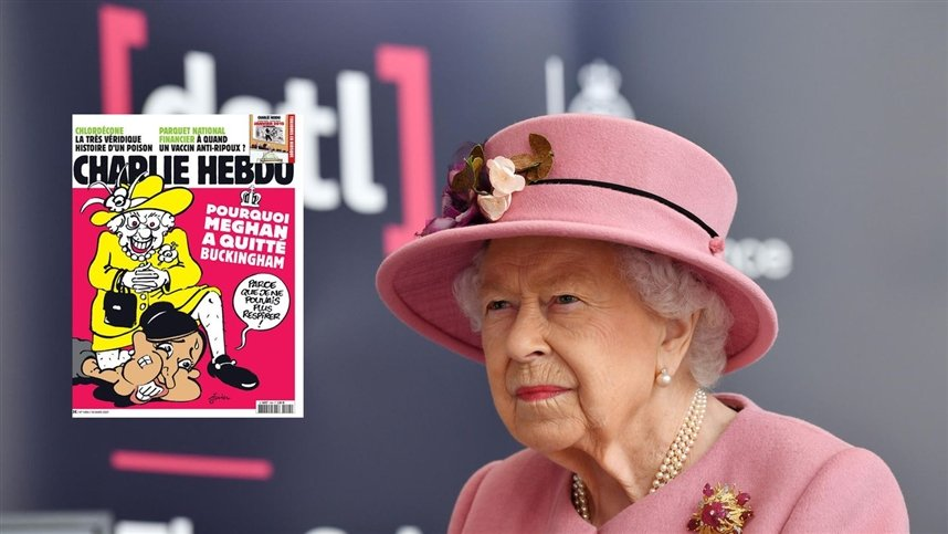 Шарли Эбдо обидели королеву и Меган