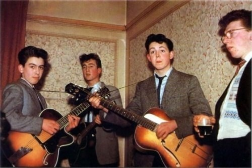 Группа The Beatles в 1957 году
